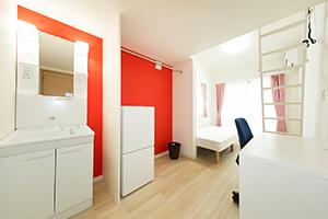 各部屋常設の便利なシャンプードレッサー