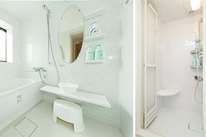 ユニットバス + シャワーブース各2室設置